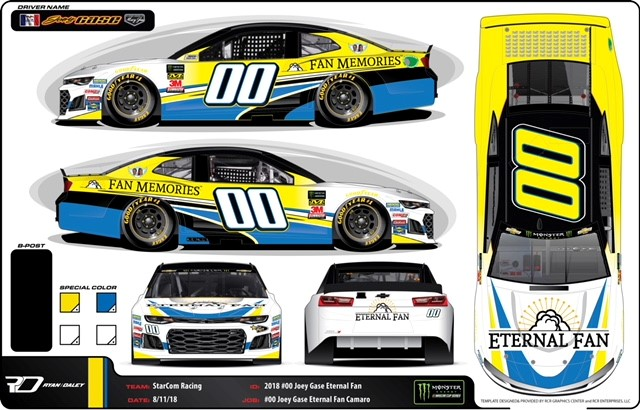 Eternal Fan Partners with Joey Gase and StarCom Racing to Kick off Its Fan Memories Program at Richmond Raceway