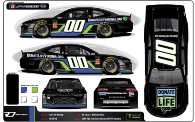 Gase Jumps Back in the #00 for StarCom at Martinsville with Donate Life Virginia